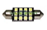 Tubular / C5W CANBUS 12 SMD 2835 com dissipador - 36mm 39mm 42mm
