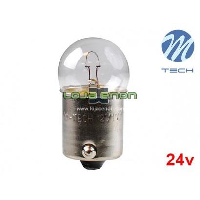 Lâmpada de Halogéneo BA15S R10W 24v/10w Amarelo M-Tech