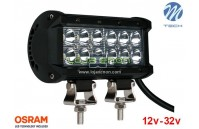 "Barra de LED 36w 2400Lm LED Osram Plana Flood 6"" 10-32v M-Tech"