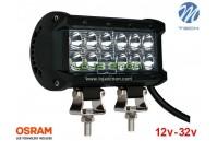 """Barra de LED 36w 2400Lm LED Osram Plana Flood 6"""" 10-32v M-Tech"""