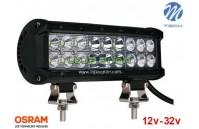 "Barra de LED 54w 3600Lm LED Osram Plana Combo 9"" 10-32v M-Tech"