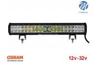 "Barra de LED 126w 8400Lm LED Osram Plana Combo 20"" 10-32v M-Tech"