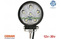 "Projetor de LED 18w 1350Lm LED Osram Redondo Spot 5"" 10-30v M-Tech"