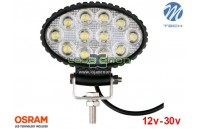 "Projetor de LED 36w 2400Lm LED Osram Oval Flood 5.4"" 10-30v M-Tech"