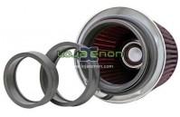 Filtro de ar K&N RG-1001RD Universal - com anéis de adaptação