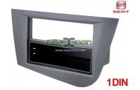 Moldura rádio Seat Leon 1P desde 2005 1 DIN cinza antracite c/ gaveta