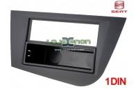 Moldura rádio Seat Leon 1P desde 2005 1 DIN preto c/ gaveta