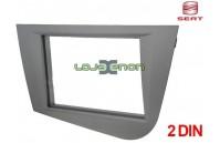 Moldura rádio Seat Leon 1P desde 2005 2 DIN cinza antracite