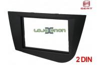 Moldura rádio Seat Leon 1P desde 2005 2 DIN preto