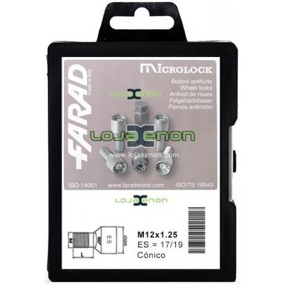 Pernos Segurança / Anti Roubo M12 Cónico M12x1,25 Microlock