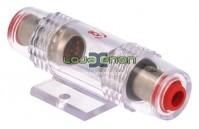Suporte para Fusível prateado, cabo de 10mm a 20mm