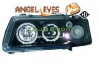 Faróis Angel Eyes Fundo negro Audi A3 8L (1996 a 2000)
