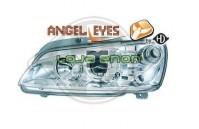 Faróis Angel Eyes Fundo Cromado Peugeot 106 (1995-2005)