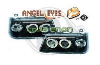 Faróis Angel Eyes Fundo Negro Peugeot 205 (1983-1996)