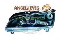 Faróis Angel Eyes Fundo Negro Peugeot 106 (1995-2005)