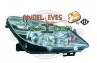 Faróis Angel Eyes Opel Corsa D fundo claro