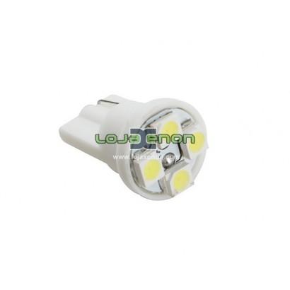 W5W T10 com 4 LEDS SMD 5000k / 6000k