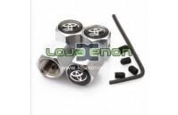 Tampas para Válvulas de Jantes - Anti-Roubo Logo Toyota