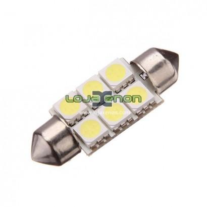 Tubular / C5W 36mm 6 leds SMD 5000k / 6000k