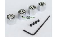Tampas para Válvulas de Jantes - Anti-Roubo Logo VW