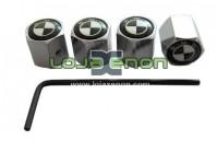 Tampas para Válvulas de Jantes - Anti-Roubo Logo BMW Preto e Branco