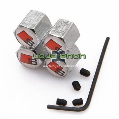 Tampas para Válvulas de Jantes - Anti-Roubo Logo Audi S Line