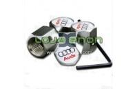Tampas para Válvulas de Jantes - Anti-Roubo Logo Audi Branco