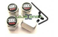 Tampas para Válvulas de Jantes - Anti-Roubo Logo Audi Negro