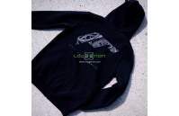 Sweat com Capuz Unisexo Logótipo Japan Racing - Preto