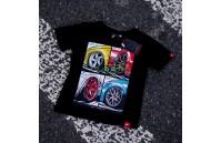 T-Shirt Junior Mix Japan Racing - Preto