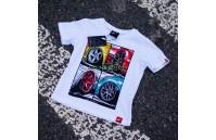 T-Shirt Junior Mix Japan Racing - Branco