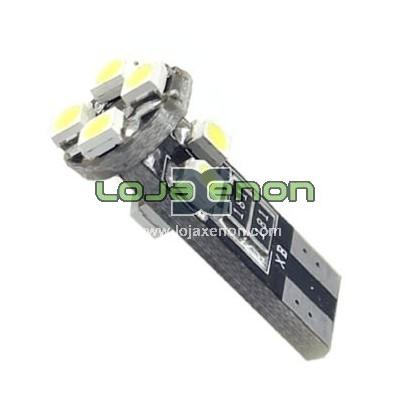 W5W T10 com 8 LEDS SMD 3528 CANBUS 6000k