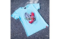 T-Shirt Homem JR-11 Car Japan Racing - Turquesa