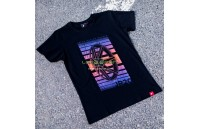 T-Shirt Homem JR-20 Face Japan Racing - Preto