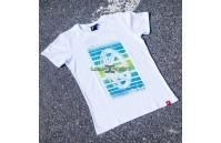 T-Shirt Homem JR-20 Face Japan Racing - Branco