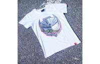 T-Shirt Homem JR-21 Laurel Japan Racing - Branco