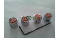 Tampas para Válvulas de Jantes - Anti-Roubo Logo Fiat Fundo Negro