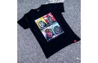 T-Shirt Homem Mix Japan Racing - Preto