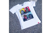 T-Shirt Homem Mix Japan Racing - Branco