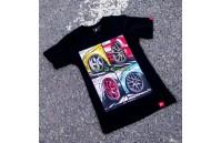 T-Shirt Mulher Mix Japan Racing - Preto