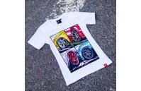 T-Shirt Mulher Mix Japan Racing - Branco