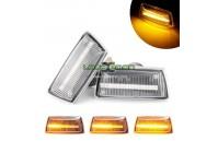 Farolins Laterais LED Dinâmico Transparente Opel Adam, Astra H, Corsa D, Corsa E, Insignia A, Meriva B, Zafira B