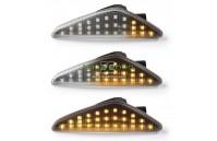 Farolins Laterais LED Dinâmico Transparente BMW X3 F25, X5 E70, X6 E71