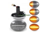 Farolins Laterais LED Dinâmico Transparente Mini R55, R56, R57, R58, R59