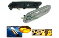 Farolins Laterais LED Dinâmico Transparente Mini R60, R61