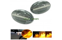 Farolins Laterais LED Dinâmico Transparente Mini R50, R52, R53