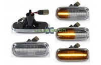 Farolins Laterais LED Dinâmico Transparente Audi A2 8Z, A3 8L, A4 B5, A6 C5, A8 4D, TT 8N