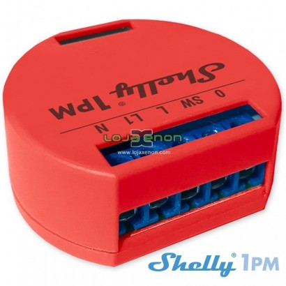 Shelly 1PM Módulo interruptor WiFi com medidor de consumo