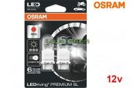 Lâmpadas LED P27/7W Vermelho Osram LEDriving PREMIUM SL - Pack Duo Blister