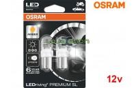 Lâmpadas LED PY21W Amber / Laranja Osram LEDriving PREMIUM SL - Pack Duo Blister